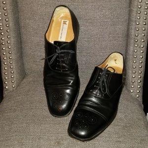 Massimo Emporio Black Leather Toe Cap Oxford 14 M